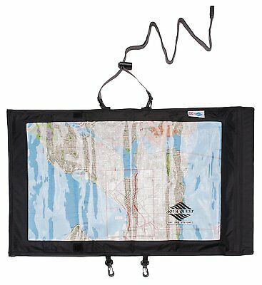 Aqua Quest Trail Map Case -100% Waterproof Map & Document Holder Dry Bag - Black