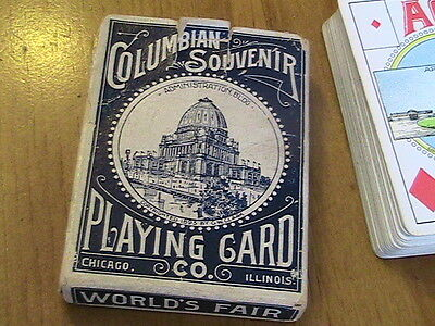 1893 Columbian Expo Playing Cards in Original Box 52 Cards plus Joker **Mint**
