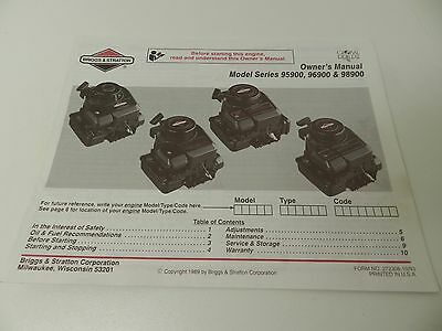 briggs and stratton 90000 series service manual