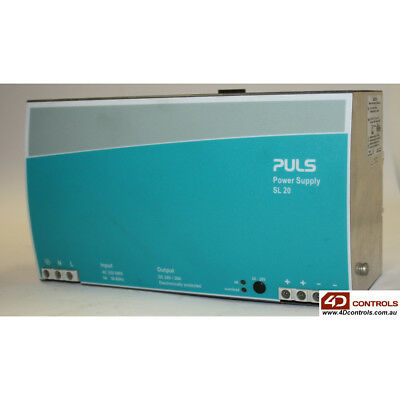 PULS SL20.100 POWER SUPPLY, 480W, 208-240VAC 1PH, 24-2 8VDC, 20-18A - Used
