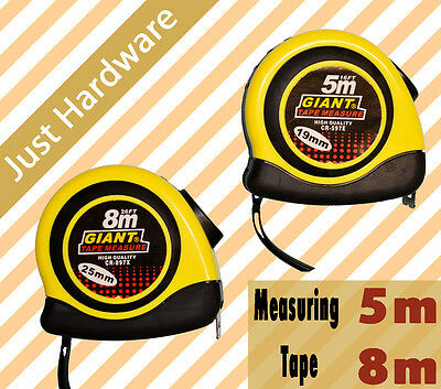 Measuring tape measure 5m 8m Easy Automatic Lock Release  HIGH QUALITY NEW