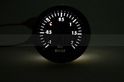 "New Black 2"" 1/16 52mm  Car Boost Bar Turbo Gauge  Motorcycle Parts High Quality"