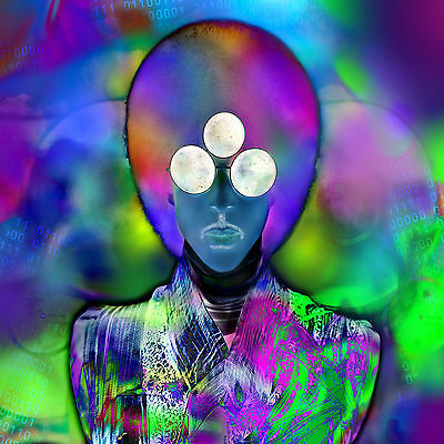 Prince Purple Colourful Pop Abstract WALL ART CANVAS FRAMED OR POSTER PRINT