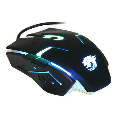 PowerCool GM002V2 USB Gaming Mouse, 7 Colour Pulsing LED - 2400DPI