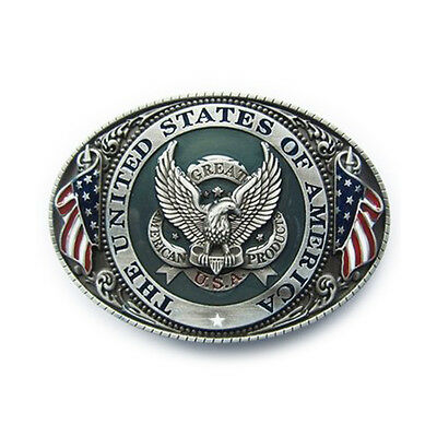 Gürtelschnalle USA United States of America * Flagge mit Adler Buckle Home