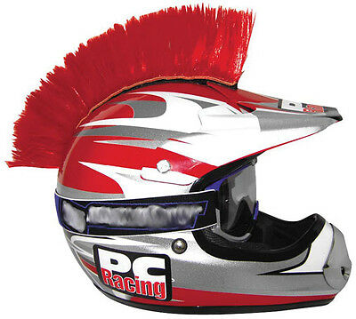 PC Racing Peel and Stick Mohawk Helmet Accessory Red