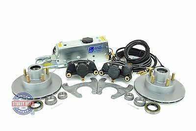 Tie Down Eng Disc Brake Kit 9.6 in Vented Integral Single Axle w/ Actuator