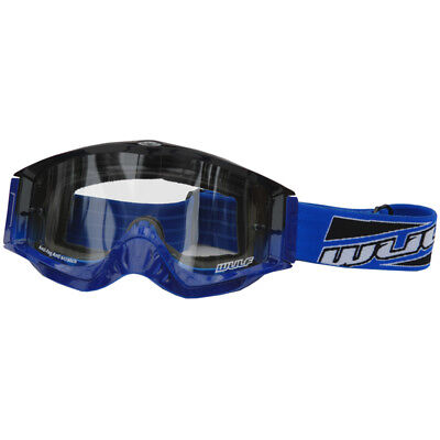 Wulfsport Shade Black Blue Motocross Goggles Off Road Helmet MX Antifog Wulf