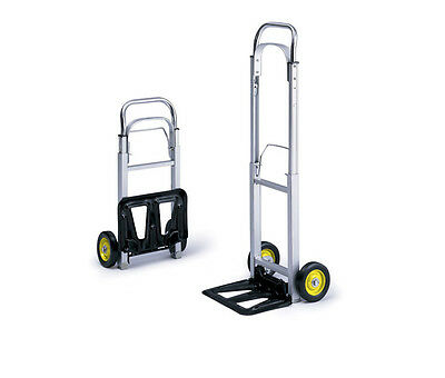 NEW Safco 4061 Hide-Away Compact Hand Truck 250 lb. Capacity Dolly Cart Folding