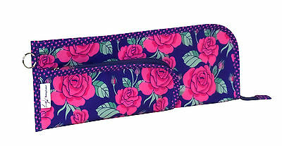Everything Mary | EVM10138-2 Rose Print Needle & Crochet Hook Case | 38x2½x12½cm