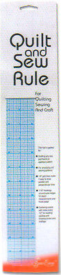 Sew Easy ER897 Acrylic Quilter Ruler 2 x 18in 1/16 & 1/8in Quilting/Sewing/Craft