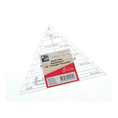 NEW | Sew Easy NL4169 | Transparent Triangle Multi-size Quilt Template | 1-4.5in