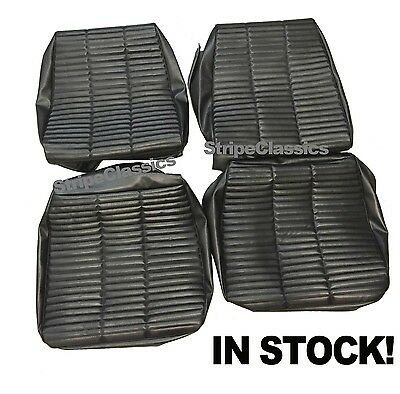 1966 66 Coronet 500 Charger Front Seat Covers Upholstery Black PUI IN STOCK