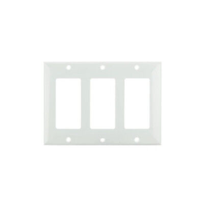 SUNLITE 3 Gang Decorative Plate White Color E303W
