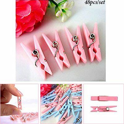 Mini Plastic Blue Pink Baby Shower Clothespins Party Game Favors