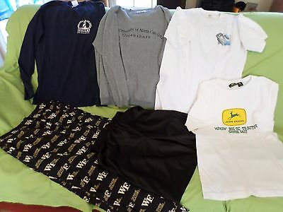 Men's mixed lot clothes tees gym short pj bottoms John Deere WFU Medium (MM)