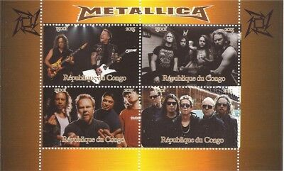 Congo - 2015 Metallica on Stamps - 4 Stamp  Sheet - 3A-496
