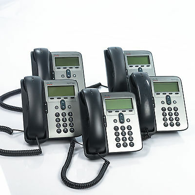 Cisco Systems 7911 Unified VoIP IP Phone CP-7911 Telephone With Stand Lot of 5