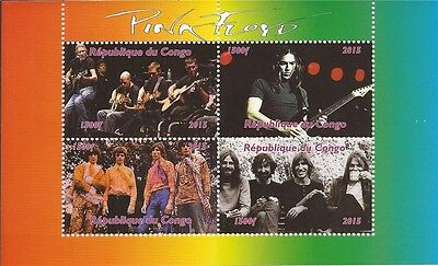 Congo - 2015 Pink Floyd on Stamps - 4 Stamp  Sheet - 3A-497