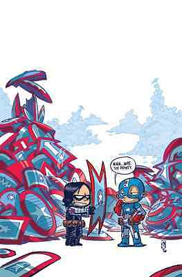 Captain America Steve Rogers 1 Skottie Young Baby Variant Hail Hydra Controversy