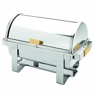 Thunder Group Stainless Steel 8 Quart Roll Top Golden Handle Chafer SLRCF0171G