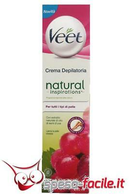 Veet Natural Crema Depilatoria Semi D'uva 200Ml
