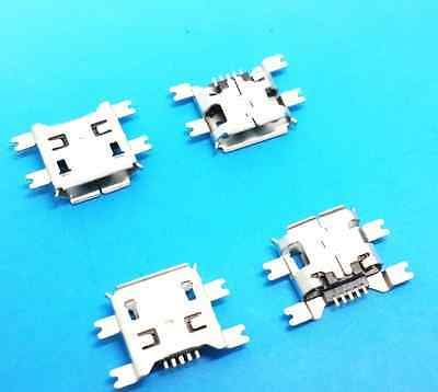 50Pcs Micro USB Type B Female 5Pin Socket 4Legs SMT SMD Soldering Connector