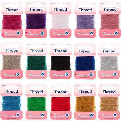 Hemline 10m Glitter Metallic Thread Premium Quality Festive Sparkle Craft Sewing