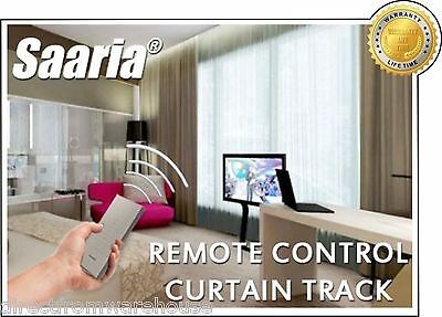 Saaria Remote Automatic Electric Motorized Curtains Drapery Rod Track 10 Feet