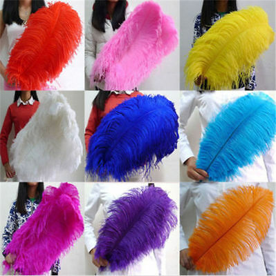 Wholesale 10-100pcs High Quality Natural WHITE OSTRICH FEATHERS 6-24inch/15-60cm
