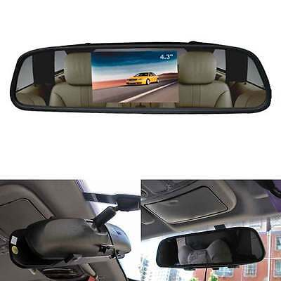 "4.3"" TFT LCD Color Monitor Car Reverse Rear View Mirror for Backup Camera DVD"
