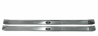 1968-72 GM A Body Concourse Factory Riveted Carpet Door Sill Plates Fisher Pair