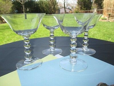 4 Imperial Candlewick Stem High Champagne Sorbet Martini Parfait Glasses
