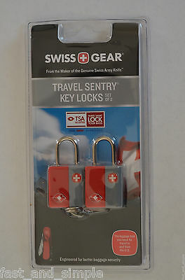 Swiss Gear Travel Sentry Key Locks ~ Set Of 2 - Tsa Accepted ~ Brand New!