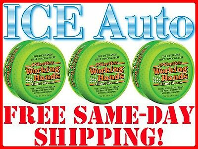 3 PACK - O'Keeffe's Working Hands Cream 3.4 oz Rough Cracked Skin Lotion