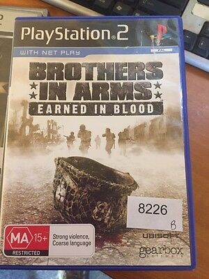 Brothers in Arms: Earned in Blood Playstion 2 PS2 Book Included #8226