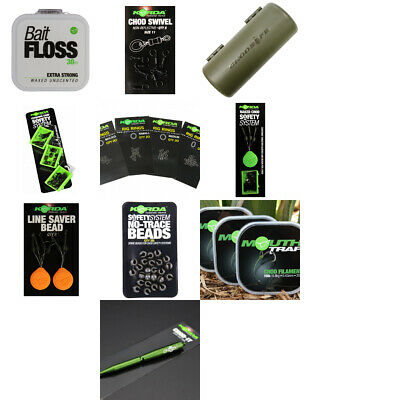 Korda Chod Rigs & Accessories, Swivels, Mouth Trap, Chod Beads, Bait Floss