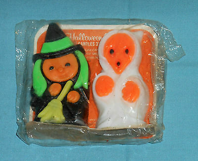 vintage Halloween SUNI WITCH & GHOST CANDLES in sealed package