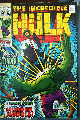 Incredible Hulk # 123, Bronze Age Classic Featuring The Leader.