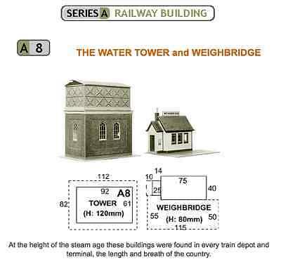 Superquick A8 Water Tower & Weighbridge card kit - OO/HO scale