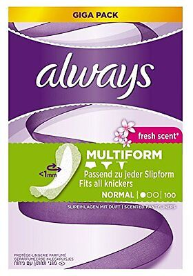 Always Flexistyle Flexible Pantyliners for all Underwear Styles 5 Packs of 100
