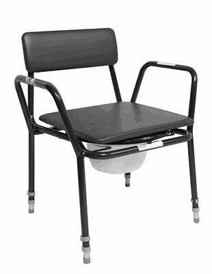 NRS Healthcare Extra Low Commode - Adjustable Height