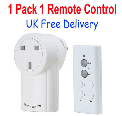 Wireless Remote Control Socket Outlet Home Mains UK Plug Light Switch 230V 10A