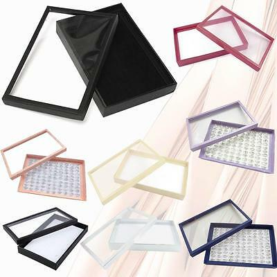 100 Slot Ring earring Jewellery Box Display Tray Case Stand Storage Organizer WT