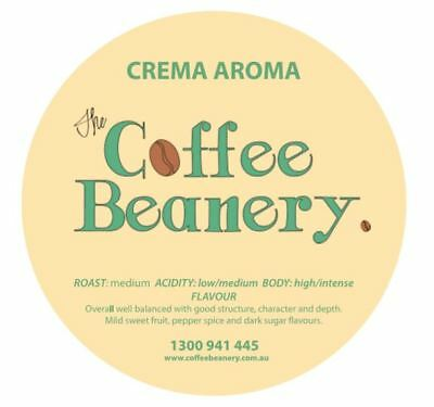 Coffee Beanery Roasted Crema Artisan  Blend Coffee Beans. 5 Kilo