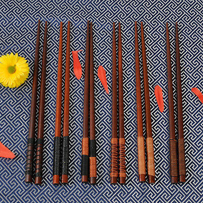 6 Pairs Handmade Japanese Natural Wood Reusable Chopsticks Value Gift Pack Safe