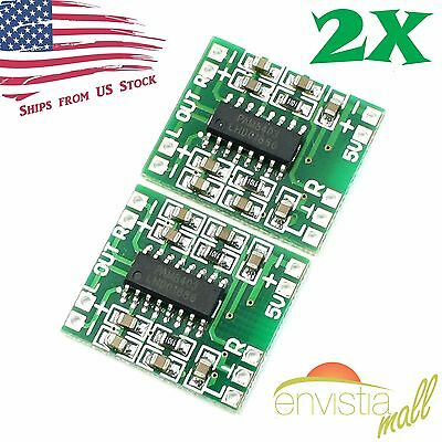 2pcs PAM8403 Mini 2 Channel Stereo 3W Class D Audio Power Amplifier Module Board