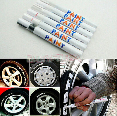 Permanent Waterproof Car Tyre Tire Metal Marker Paint Pen Quick-drying Useful  H