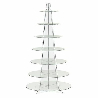 7 Tier Round Cup Cake Stand Wedding Birthday Party Acrylic Cupcake Display