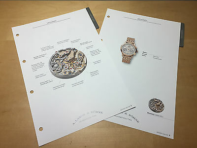 Technical Details A. LANGE & SÖHNE - Datograph - French - For Collectors
